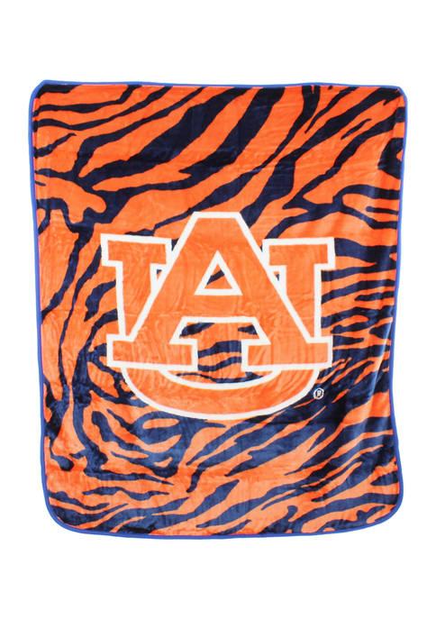 NCAA Auburn Tigers Soft Raschel Throw Blanket