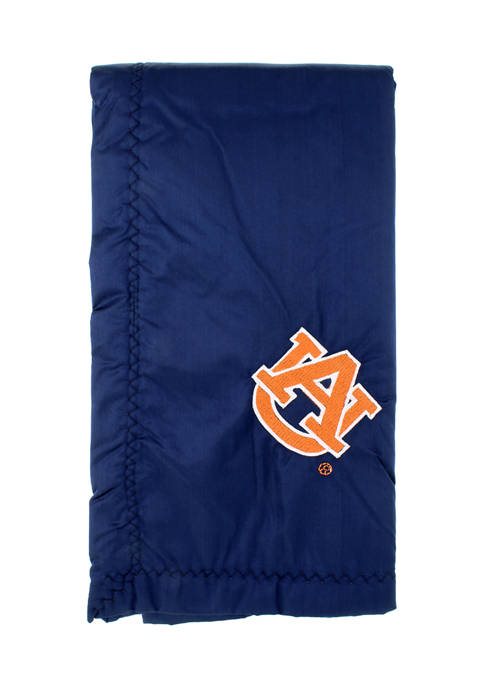 NCAA Auburn Tigers 28 in x 28 in Silky and Super Soft Plush Baby Blanket