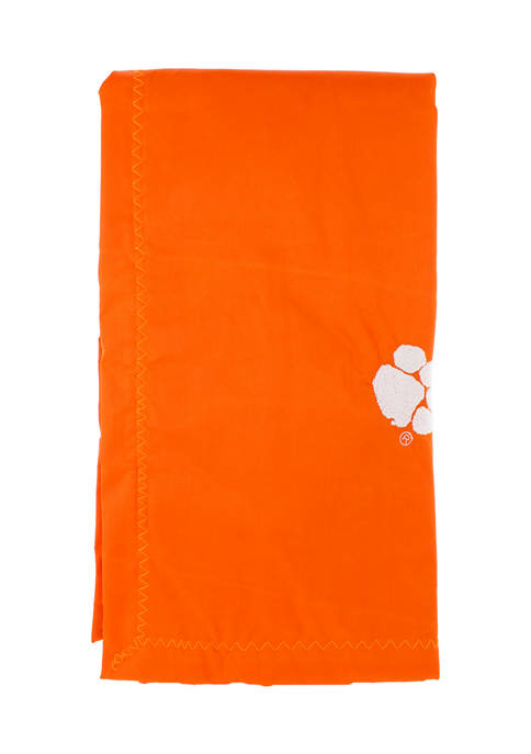 NCAA Clemson Tigers 28 in x 28 in Silky and Super Soft Plush Baby Blanket