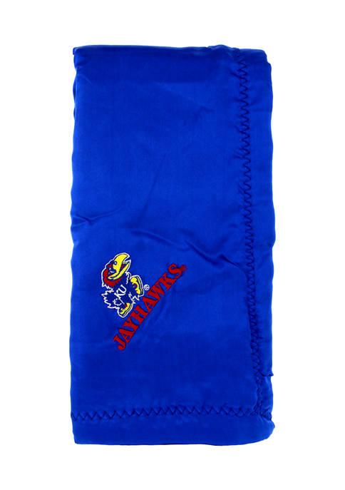 NCAA Kansas Jayhawks 28 in x 28 in Silky and Super Soft Plush Baby Blanket