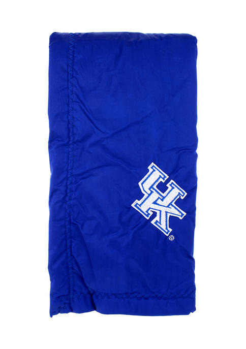 NCAA Kentucky Wildcats 28 in x 28 in Silky and Super Soft Plush Baby Blanket