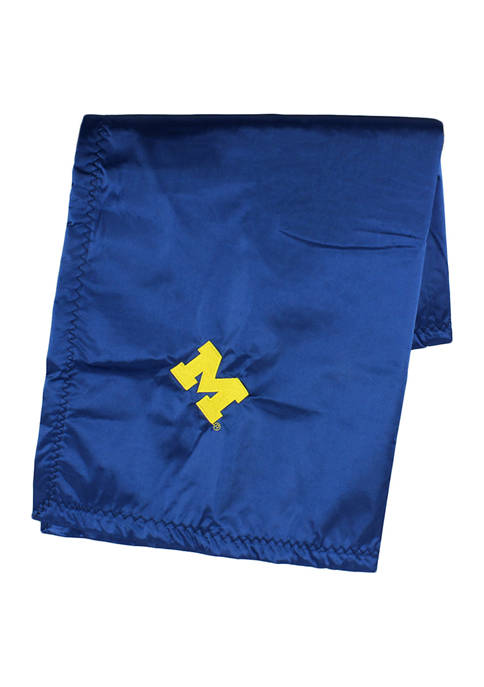 NCAA Michigan Wolverines 28 in x 28 in Silky and Super Soft Plush Baby Blanket