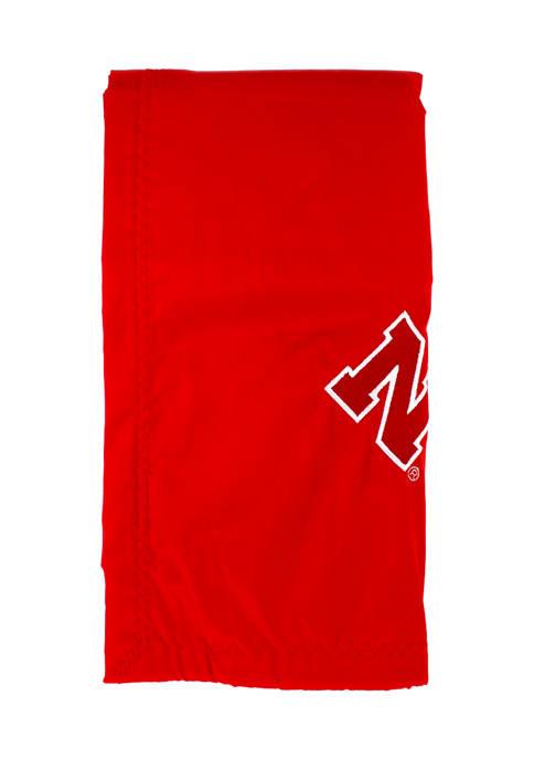 NCAA Nebraska Cornhuskers 28 in x 28 in Silky and Super Soft Plush Baby Blanket