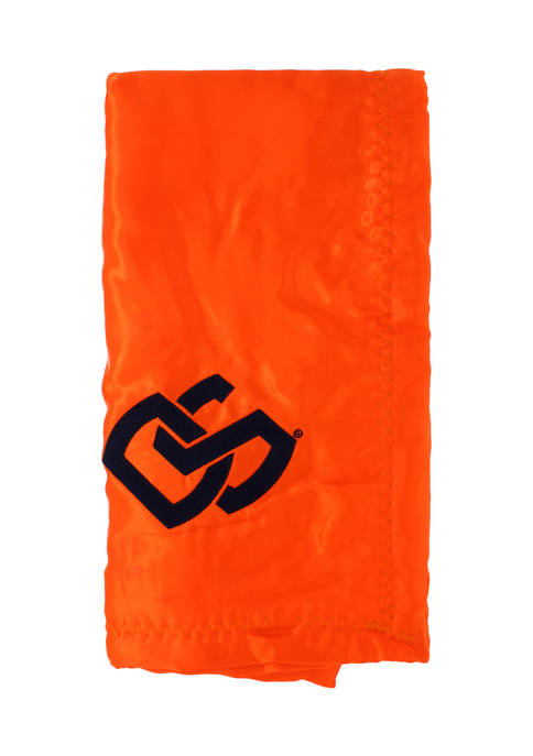 NCAA Oregon State Beavers 28 in x 28 in Silky and Super Soft Plush Baby Blanket