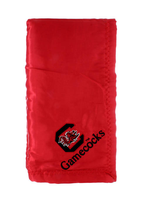 NCAA South Carolina Gamecocks 28 in x 28 in Silky and Super Soft Plush Baby Blanket