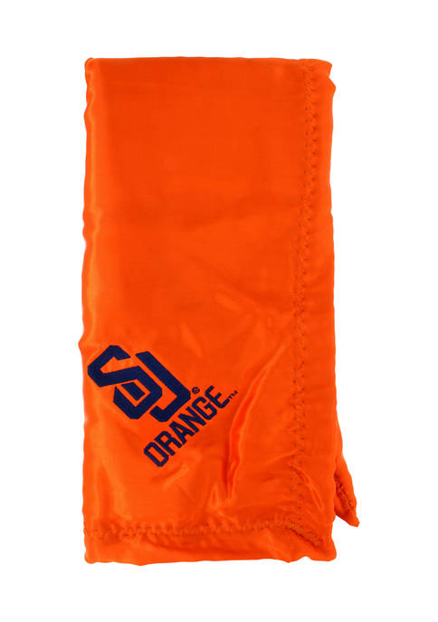 NCAA Syracuse Orange 28 in x 28 in Silky and Super Soft Plush Baby Blanket