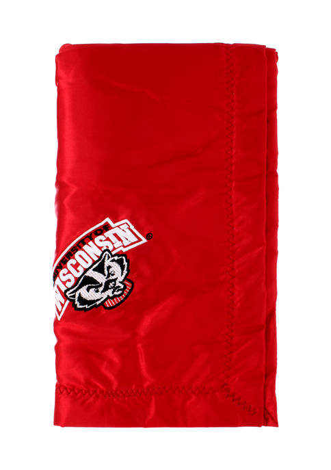 NCAA Wisconsin Badgers 28 in x 28 in Silky and Super Soft Plush Baby Blanket