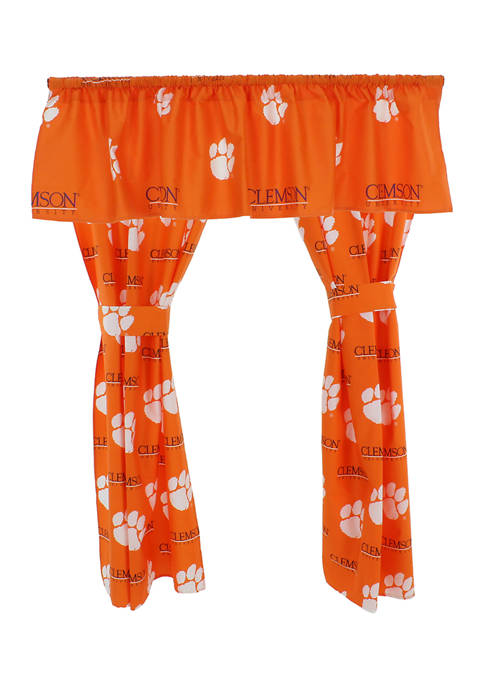 NCAA Clemson Tigers Printed Curtain Valance