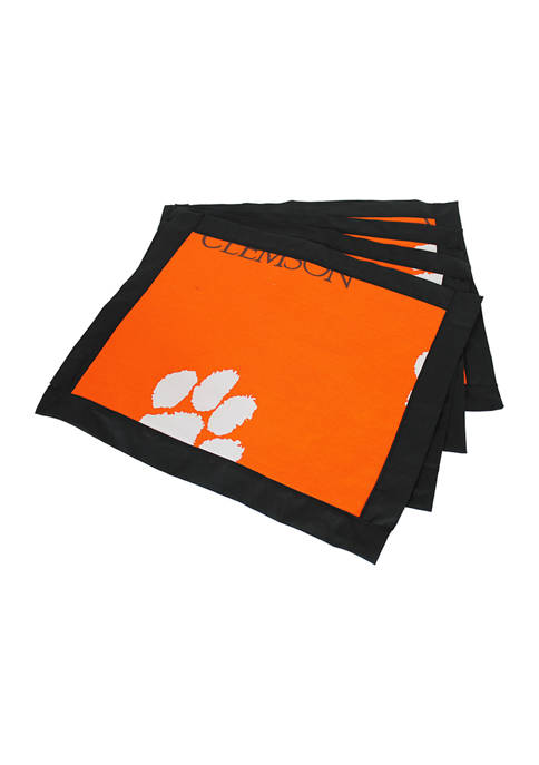 NCAA Clemson Tigers Set of 4 Placemats