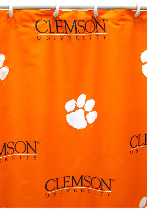 College Covers NCAA Clemson Tigers Printed Shower Curtain