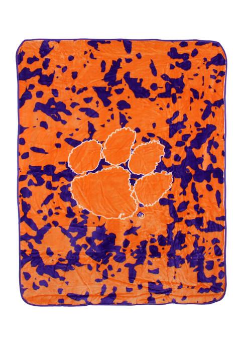 College Covers NCAA Clemson Tigers Huge Raschel Throw