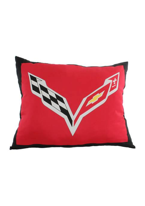 College Covers Corvette Fully Stuffed Big Logo Pillow