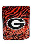 NCAA Georgia Bulldogs Soft Raschel Throw Blanket