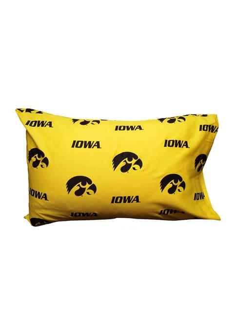 College Covers NCAA Iowa Hawkeyes King Pillowcase