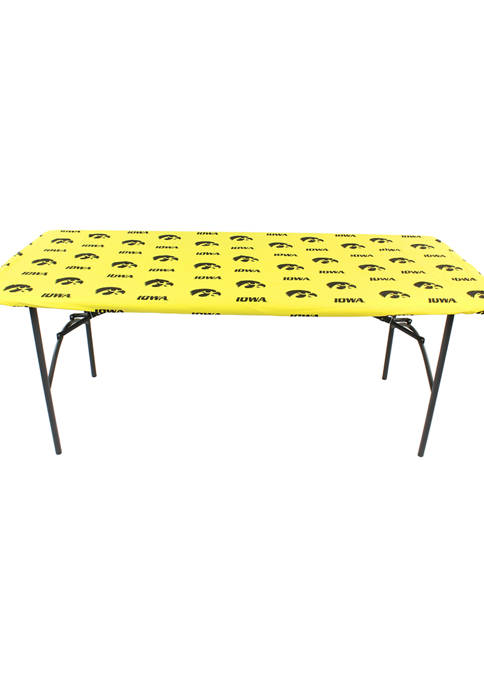 NCAA Iowa Hawkeyes Tailgate Fitted Tablecloth