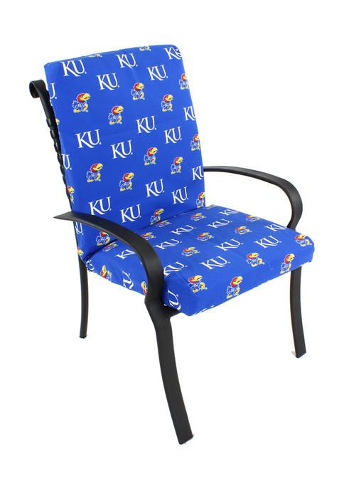 NCAA Kansas Jayhawks 2 Piece Chair Cushion
