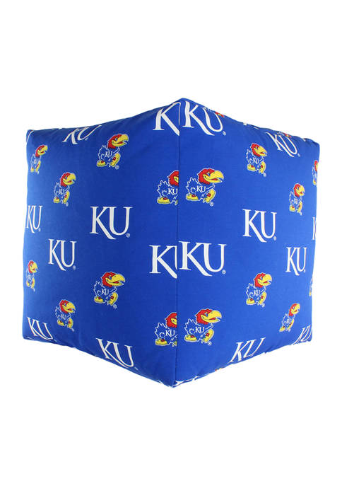 NCAA Kansas Jayhawks Cubed Bean Bag Pouf