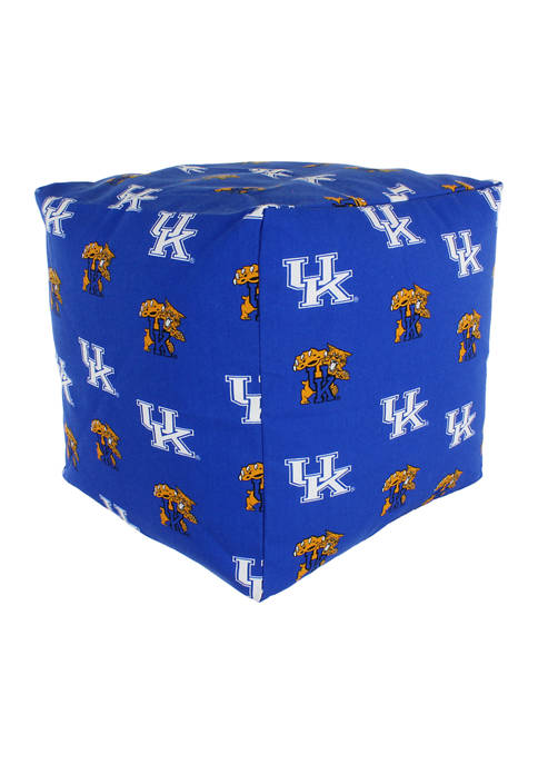 NCAA Kentucky Wildcats Cubed Bean Bag Pouf