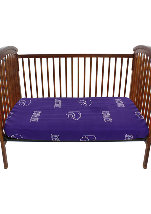 NCAA Kansas State Wildcats Baby Crib Fitted Sheet