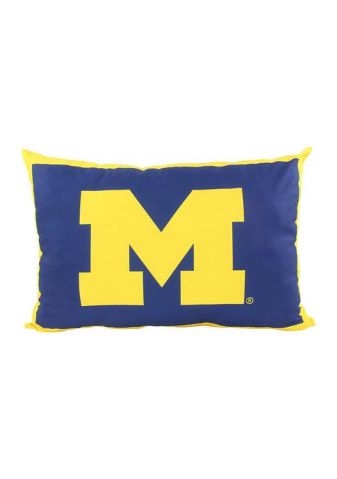NCAA Michigan Wolverines Fully Stuffed Big Logo Pillow