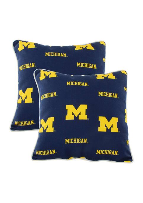 NCAA Michigan Wolverines Decorative Pillow