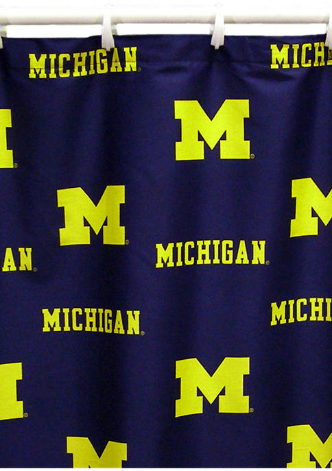 College Covers NCAA Michigan Wolverines Printed Shower Curtain