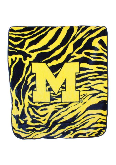 College Covers NCAA Michigan Wolverines Soft Raschel Throw