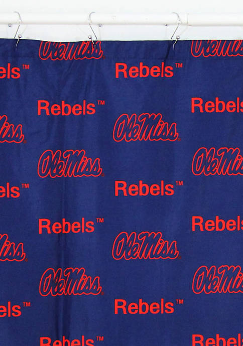 College Covers NCAA Ole Miss Rebels Printed Shower