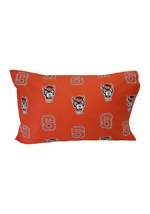 College Covers NCAA NC State Wolfpack King Pillowcase