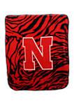 NCAA Nebraska Cornhuskers Soft Raschel Throw Blanket