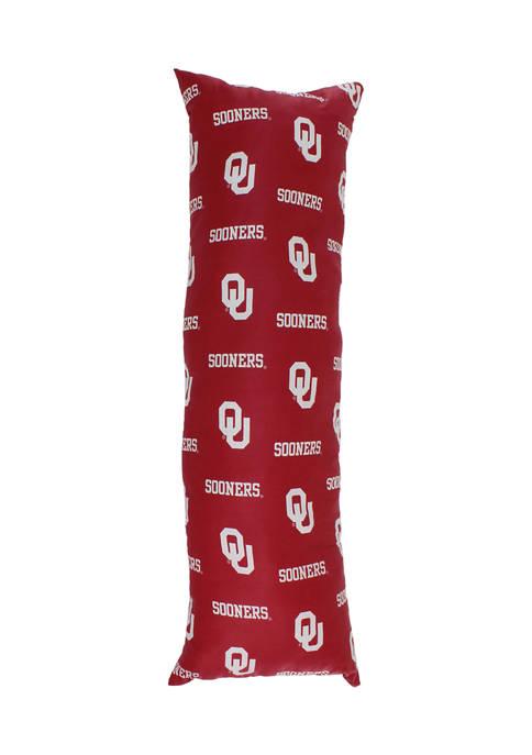 NCAA Oklahoma Sooners Printed Body Pillow