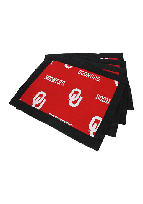 NCAA Oklahoma Sooners Set of 4 Placemats