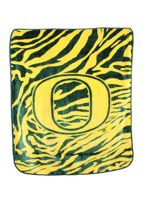College Covers NCAA Oregon Ducks Soft Raschel Throw