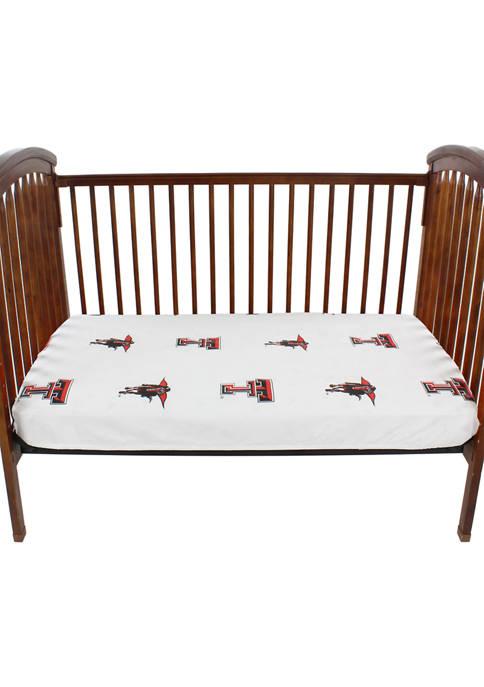 NCAA Texas Tech Red Raiders White Baby Crib Fitted Sheet