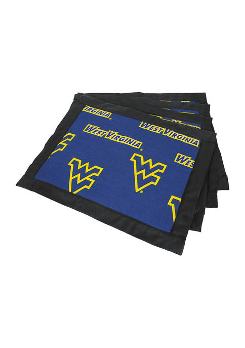 NCAA West Virginia Mountaineers Set of 4 Placemats