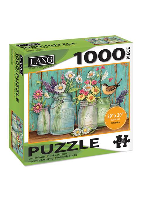 Mason Flowers 1000-Piece Puzzle