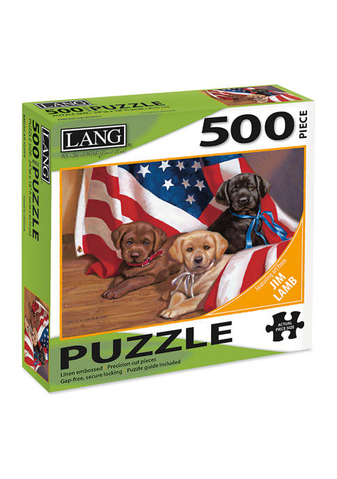 Lang American Pup 500 Piece Puzzle
