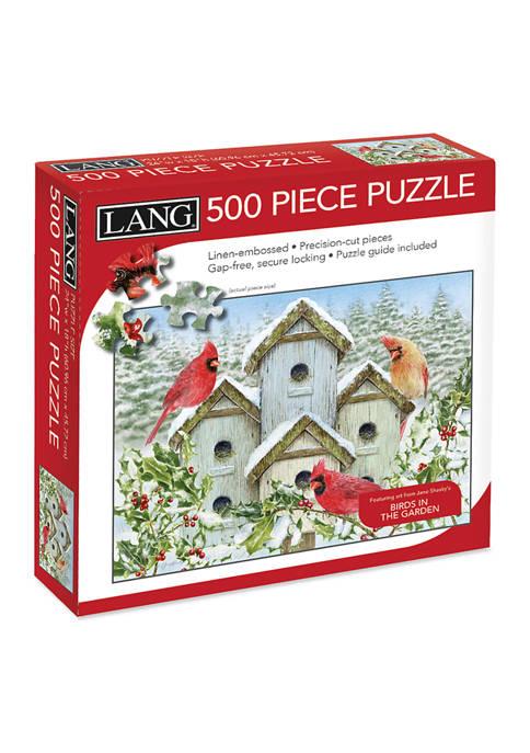 Lang Cardinal Birdhouse 500 Piece Puzzle