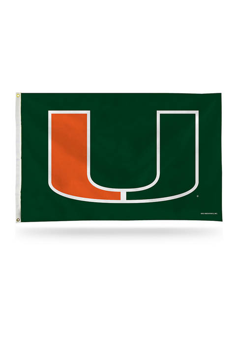 RICO NCAA Miami Hurricanes Banner Flag