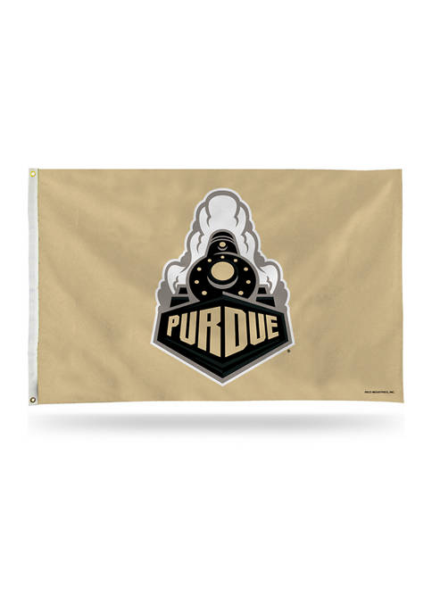RICO NCAA Purdue Boilermakers Train Gold Banner Flag