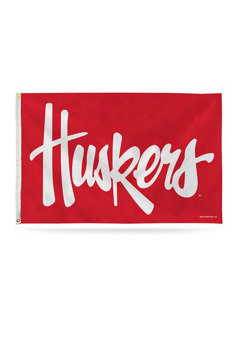 NCAA Nebraska Huskers Banner Flag