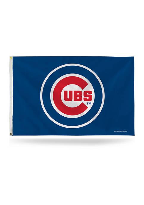 RICO MLB Chicago Cubs Logo Banner Flag