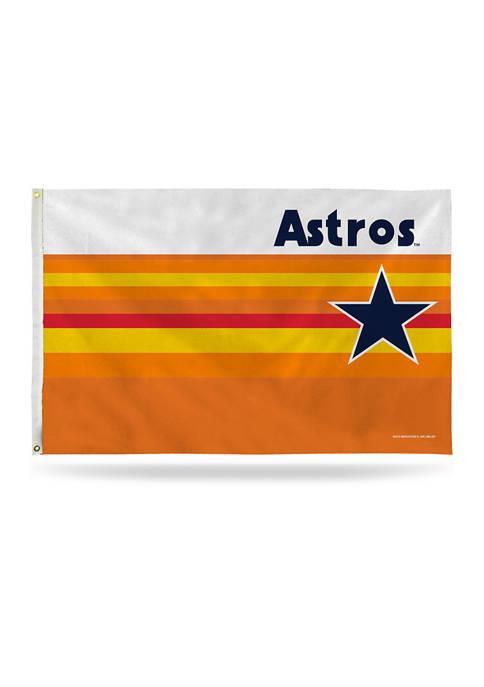RICO MLB Houston Astros Retro Rainbow Banner Flag
