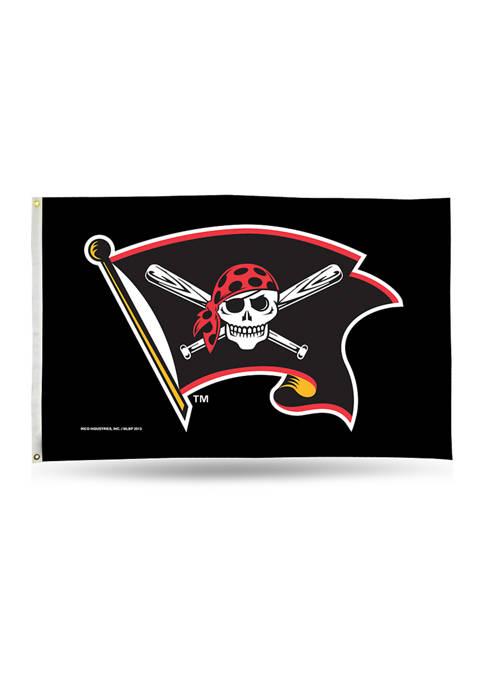 RICO MLB Pittsburgh Pirates Jolly Roger Banner Flag