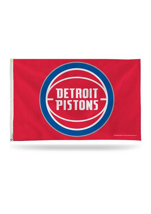 RICO NBA Detroit Pistons Banner Flag