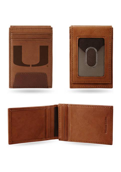 NCAA Miami Hurricanes Premium Leather Wallet