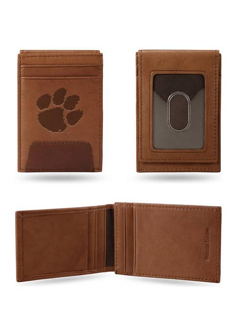 RICO NCAA Clemson Tigers Premium Leather Wallet