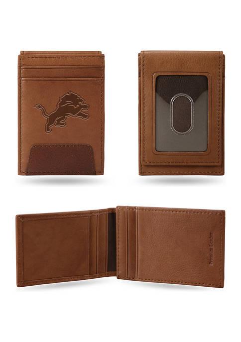 NFL Detroit Lions Premium Leather Wallet