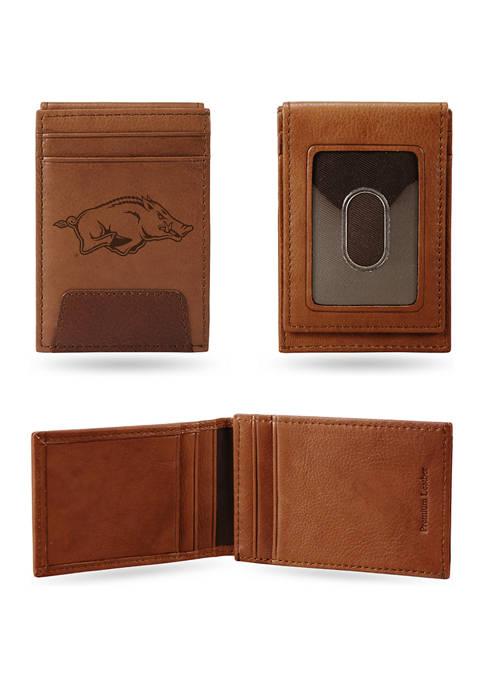RICO NCAA Arkansas Razorbacks Premium Leather Wallet
