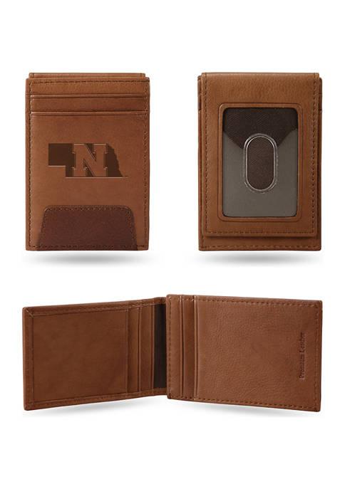 NCAA Nebraska Cornhuskers Premium Leather Wallet